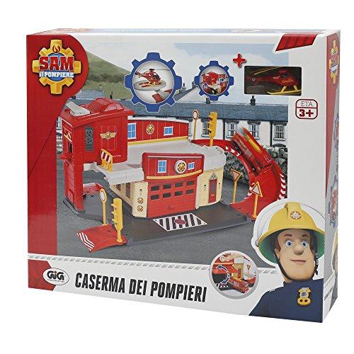 Giochi Preziosi Sam il Pompiere Gioco Caserma dei Pompieri con Rampa e Pista di Atterraggio