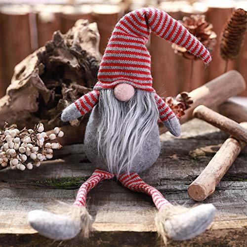 uck handgemachte gestreifte Tomte Plüsch Puppe für Zuhause Weihnachten Halloween Urlaub Dekoration Kinder Geschenke ()