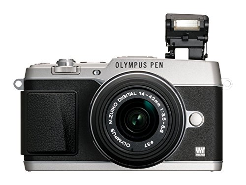 Olympus PEN E-P5 Micro Four Thirds Interchangeable Lens Camera (16.1 MP, Live MOS, M.Zuiko 14-42 mm II R Lens, 3.0 inch Tiltable Touchscreen LCD) - Silver