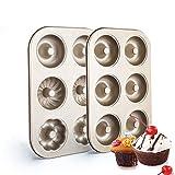 Acciaio al Carbonio Donut Accessori da Cucina Antiaderente Cake Mold Facile Bake Full Size per Biscotti a Forma di Ciambelle, Anello di Cottura della Torta Muffa 2 PCS