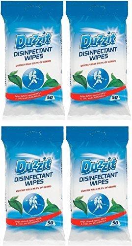 4-x-duzzit-pack-de-50-desinfectante-toallitas-mata-999-de-los-germenes