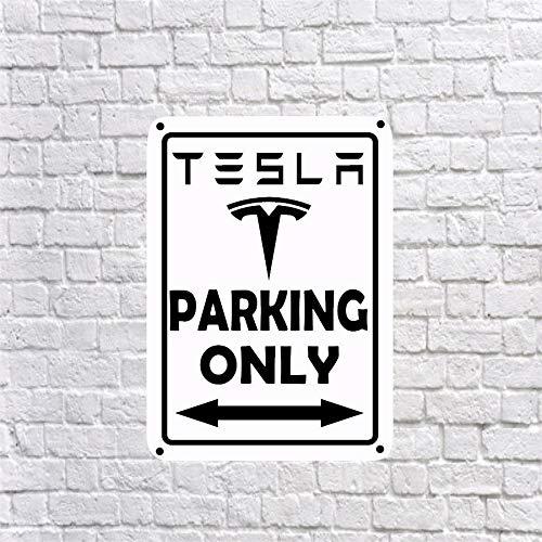 Tesla Parking Only Schild, Aluminium, 25,4 x 35,6 cm, Modell 3 S X