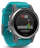 Garmin Fenix 5s deporte gps reloj con al aire libre navegación y ritmo cardíaco, pantalla de 1.1 inches, 0.069 kilograms, color Turquoise band