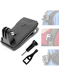 Fantaseal® Sac à dos Pince, Mini Sac Clip pour Gopro Pince, Sac Fixation à 360 dégré Rotation pour GoPro Accessoires pour Gopro Hero4 /3+/3/ Session SJCAM SJ4000 SJ4000WIFI DBPOWER QUMOX etc