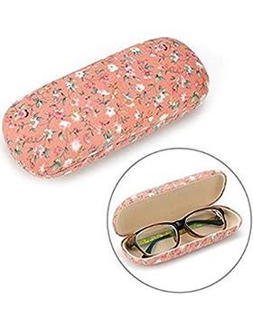 JUNGEN Los vidrios de la manera encajonan las gafas de sol lindas del patrón caja anti-extrusión (Naranja)