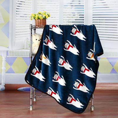 Guojiahao Katze Coral Fleece Soft Cats Bed Plaids Herbst Winter verdicken Haus Hund Schlafen Decke Abdeckungen, 100X72 cm, dunkelblau -