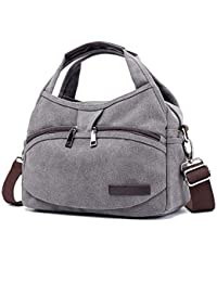 b7d800b520820 Signice Damen Schultertaschen Segeltuch Handtasche Umhängetaschen Elegant  Damentaschen Canvas Henkeltasche Frauen…