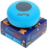 Showermate Wireless Bluetooth Lautsprecher | Wasserdichtes Duschradio mit Freisprecheinrichtung und eingebautem Mikrofon | Kompatibel mit allen Bluetooth Geräten – Blau