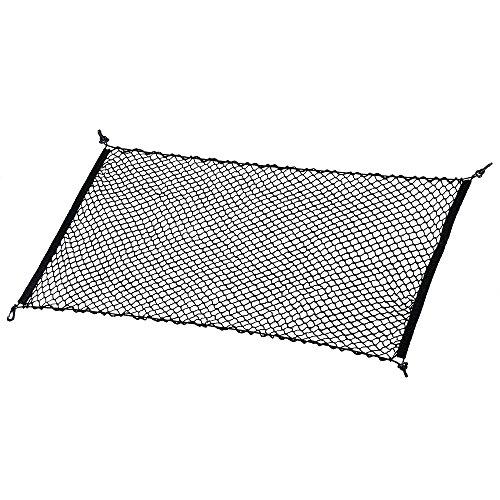 Rand Lagerung (MICTUNING Elastisch Nylon Kofferraumnetz Lagerung Mesh Auto-Gepäcknetz für Kofferraum Schwarz)