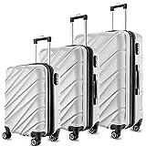 Maletas De Viaje SHAIK Set De 3 Piezas - 40/78/124 Capacidad De Litros –...