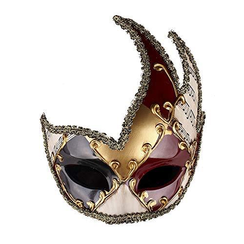 WenBin Halloween Maske, Christmas Party Performance Maske Halloween Retro Maske Europa und die neuen High-End Dance Party Supplies