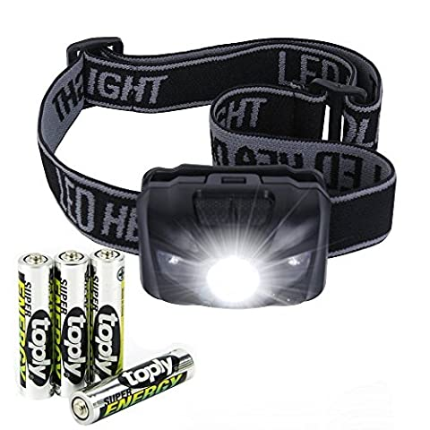 LURICO Headlamp LED Headlight Flashlight with Red Lights 5 Mode Outdoor Flashlight Torch, IP6 Waterproof, Kid-Friendly, Adjustable Headband, Include 3 AAA Batteries, Lifetime