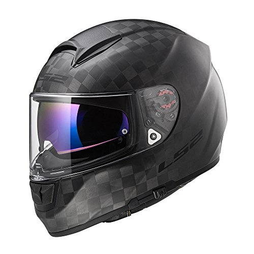 Preisvergleich Produktbild LS2 Helm Motorrad FF397 VECTOR CT2 CARBON,  MATT Carbon,  XS