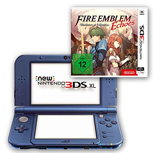 New Nintendo 3DS XL metallic blau + Fire Emblem Echoes: Shadows of Valentia (Fire Xl 3ds Nintendo)