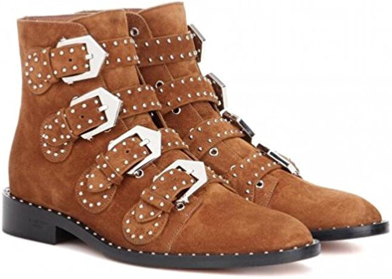 XUEXZIX stivali Donne Low-Heeled Stivali Boccaccio Punto Punto Lato Lato Lato con Cuoio Genuine Rivettatura Stivali Scarpe... | Outlet Online Store  131a61