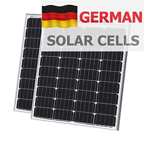 160W (80+ 80) Photonic Universe Solar aus deutscher Solar Zellen mit 2x 5m Kabel für Wohnmobil, Wohnwagen, Boot oder jedem 12V/24V Akku System