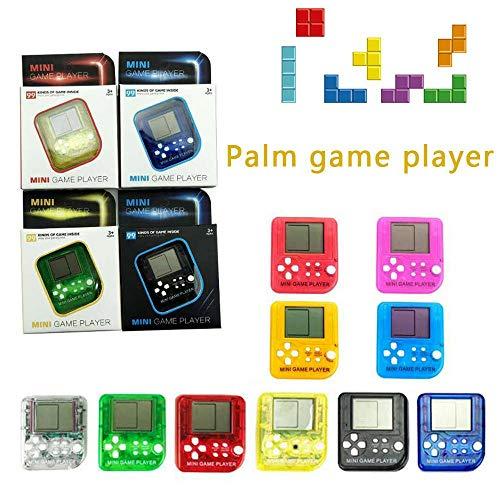 KOBWA Mini Llavero de Mano Consola de Juegos con 26 Juegos Integrados, portátil Mini Tetris Juego de Juguete relajación para niños Adultos, Color al Azar