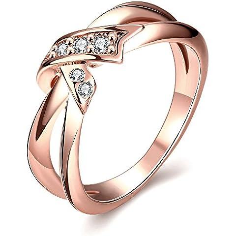 Anillos de Moda chapado en oro cristal anillos CZ Anillos Para Mujer Bisutería