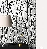 NEWROOM Blumentapete Tapete Schwarz Bäume Äste Floral Vliestapete Weiß Vlies moderne Design Optik Modern inkl. Tapezier Ratgeber