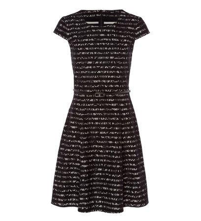 zero Damen Kleid mit Streifen und Spitze 313900 black 36