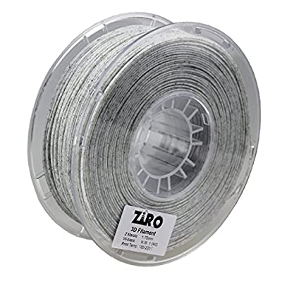 ZIRO 3D Printer Filament PLA 1.75mm Marble Color 1KG(2.2lbs) - White
