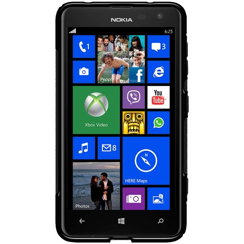 Amzer AMZ96113 TPU Hybrid Case for Nokia Lumia 625 (Solid Black)  available at amazon for Rs.319