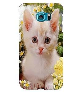 ColourCraft Cute Kitty Design Back Case Cover for SAMSUNG GALAXY S6 EDGE G925
