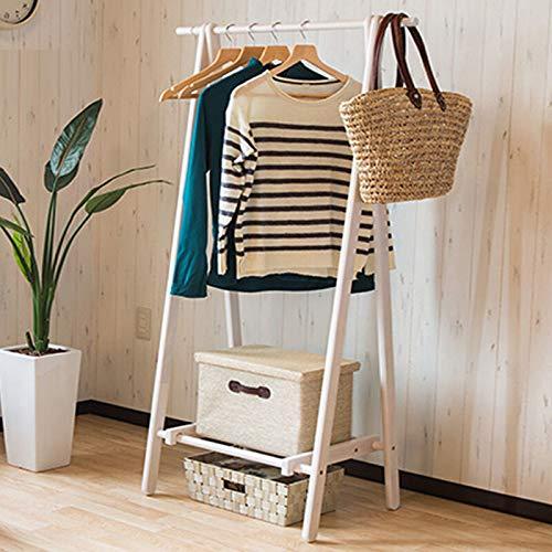 X_LONG Kleiderständer Mehrzweck-kleiderständer Hut Regenschirm Tasche Stehen, Schlafzimmer massivholz faltende Handtasche aufhänger mit niedriger lagerung Regal (Farbe : Weiß)