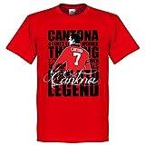 Eric Cantona Legend T-shirt - Red - XL