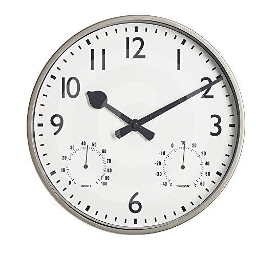 "Gardman Uhr \""Akademy\"", metall, 32x5x32 cm, 17222"