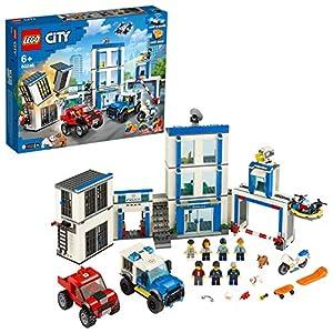 LEGO City Police - Comisaría de Policía, Juguete de Construcción a Partir de 6 Años Incluye una Celda que Explota, Vehículos y Personajes (60246)