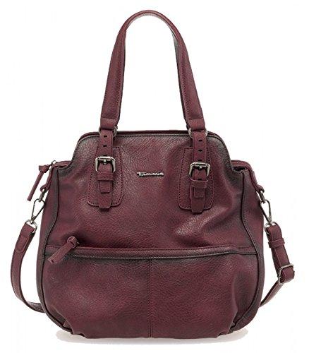 Tamaris Tasche Cora Hobo borsa del sacchetto cartella Pepper Grey Rosso