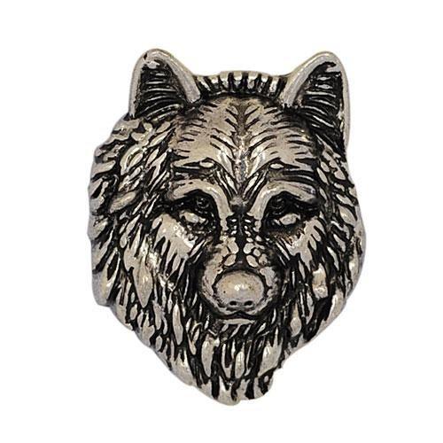 Andante CHUNK Click-Button Druckknopf (Wolf) für Chunk-Armbänder, Chunk-Ringe, Chunk-Schlüsselanhänger und andere Chunk-Accessoires + Organzasäckchen -