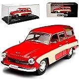 alles-meine.de GmbH Wartburg 312 Camping Rot Beige 1965-1967 DDR Limitiert 1 von 1000 Stück 1/43 Whitebox Modell Auto