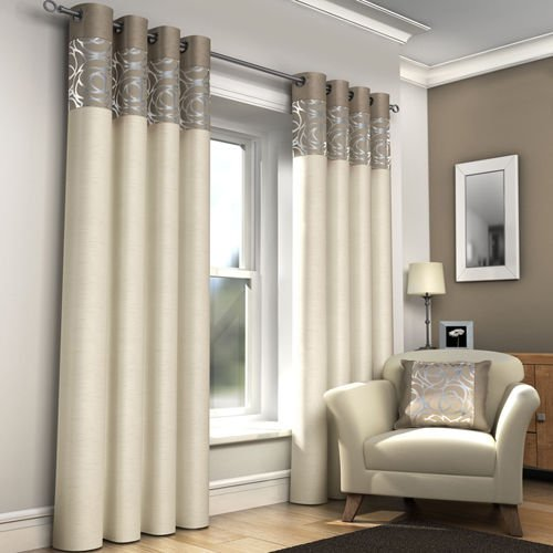 Bedroom Curtains cream bedroom curtains : RING TOP FULLY LINED PAIR EYELET READY MADE CURTAINS RED BLACK ...
