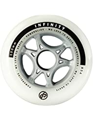 Powerslide 905222 Infinity II - Ruedas para patines (90 mm, 4 unidades), color blanco