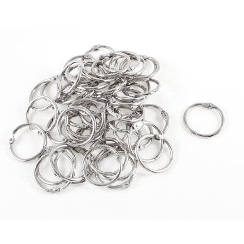 50-pcs-staple-book-binder-30mm-outer-diameter-loose-leaf-ring-keychain