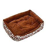 Extra Größe Luxus Hundebett Hundekissen Oxford Gewebe mit unten einen Anti-Rutschboden Kaffee-Leopard