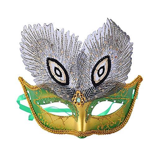 aske Pfau Augen Maske Karneval Karneval Halloween Requisiten ()