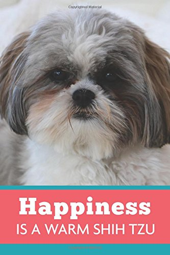 Happiness Is A Warm Shih Tzu: Dog Coral Blue, Lightly Lined, 120 Pages, Perfect for Notes, Journaling, Mother's Day and Christmas Gifts
