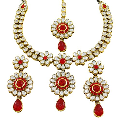 Halskette Ohrring Cz-Stein Brautjungfer Hochzeit Schmuck Geschenk Für Sie (Indische Kostüme Armreifen)
