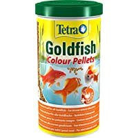 Tetra Pond Goldfish Colour Pellets, Premium Food for All Goldfish for Intense Natural Colouration, 1 Litre