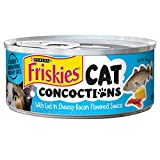 Purina Friskies Cat Concoctions with Cod in Cheesy Bacon Flavored Sauce Cat Food, 5.5 Ounce Can by Purina Friskies
