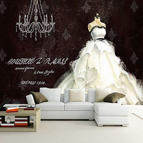 Europäischen Stil Retro Handgemalte Hochzeitskleid Große Benutzerdefinierte Wandbild Malerei...