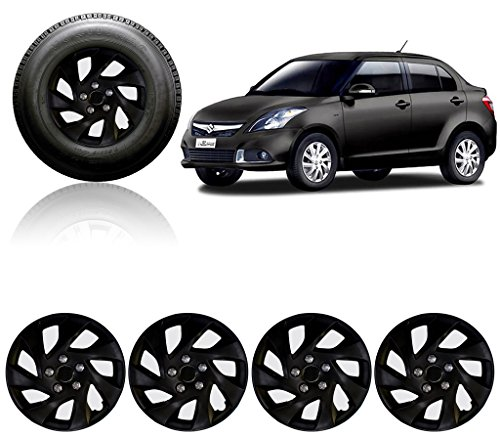 Auto Pearl 14-inch Black Wheel Cover Cap for Maruti Suzuki Swift Dzire Type-3 (Set of 4)