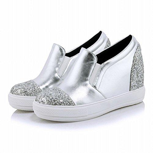 Mee Shoes Damen hidden heel Geschlossen Pailleten Pumps Silber