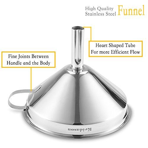 Keidason Edelstahl Küche Trichter mit Abnehmbarer Filter für den Transport von Flüssigkeiten & Fluid - 3