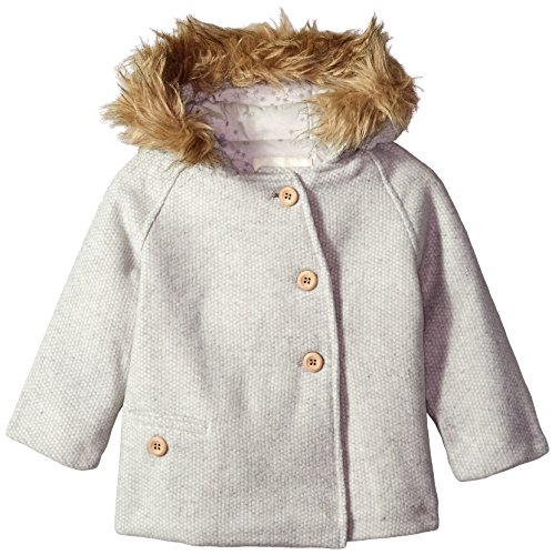 Jessica Simpson Baby Girls' Fashion Outerwear Jacket (More Styles Available), 8029-Heather Grey, 24M -