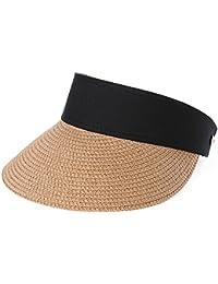Zhou Yunshan Versión Coreana de Primavera y Verano de la Cubierta de Playa al  Aire Libre Sombrero de Paja Gorra de… 850572b93227