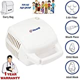Nuwik Professional Series Piston Compressor Nebulizer Machine for Adults and Kids with complete